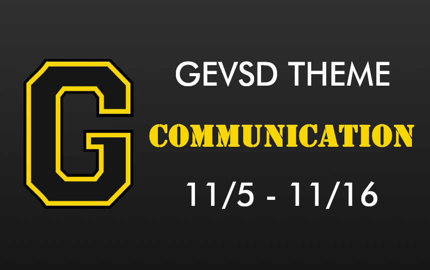 Theme for November 5th - November 16th - COMMUNICATION