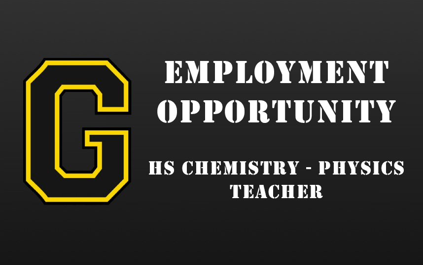Employment Opportunity - HS Chemistry - Physics Teacher