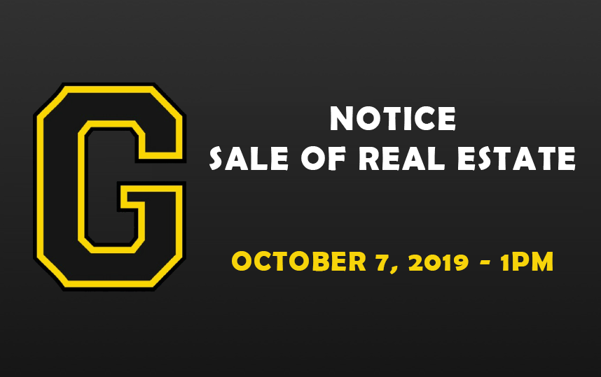 NOTICE: Sale of Real Estate