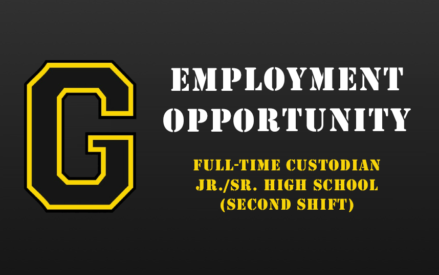 Employment Opportunity - Full Time Custodian