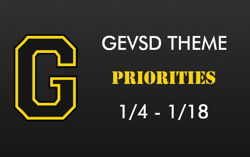 Theme for January 4th - January 18th - PRIORITIES