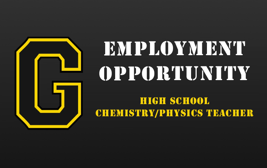 Employment Opportunity - HS Chemistry/Physics Teacher