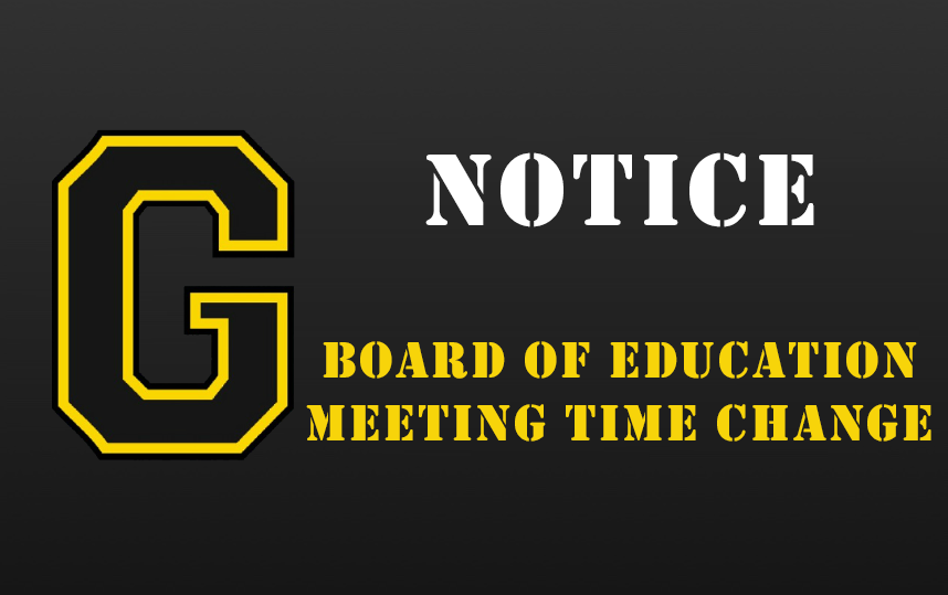 Board of Education Meeting Time Change - December 18, 2019