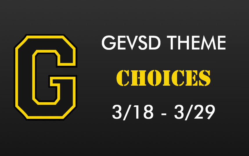 Theme for March 18th - March 29th - Choices