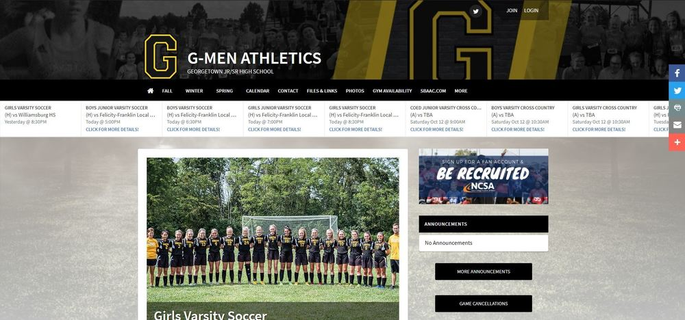 New Athletics Website!