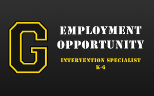 Employment Opportunity - Intervention Specialist - K-6