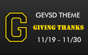 Theme for November 19th - November 30th - GIVING THANKS