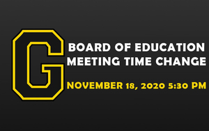 Board of Education Meeting Time Change