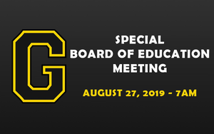 Special Board of Education Meeting - August 27, 2019
