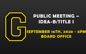 PUBLIC MEETING – IDEA-B/TITLE I