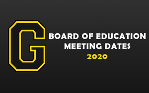 Board of Education Meeting Dates - 2020