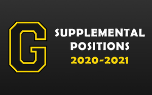 2020-2021 SUPPLEMENTAL POSITIONS
