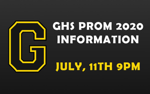 GHS Prom 2020 Information