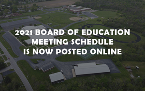 2021 Board of Education Meeting Schedule