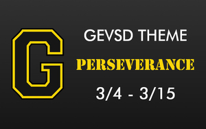 Theme for March 4th - March 15th - Perseverance