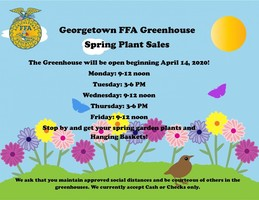 Georgetown FFA Greenhouse Spring Plant Sales