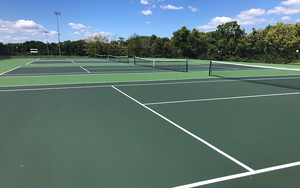 Tennis Court Rededication Ceremony