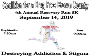 Coalition for a Drug Free Brown County's 4th Annual 5K Recovery Run Color Explosion