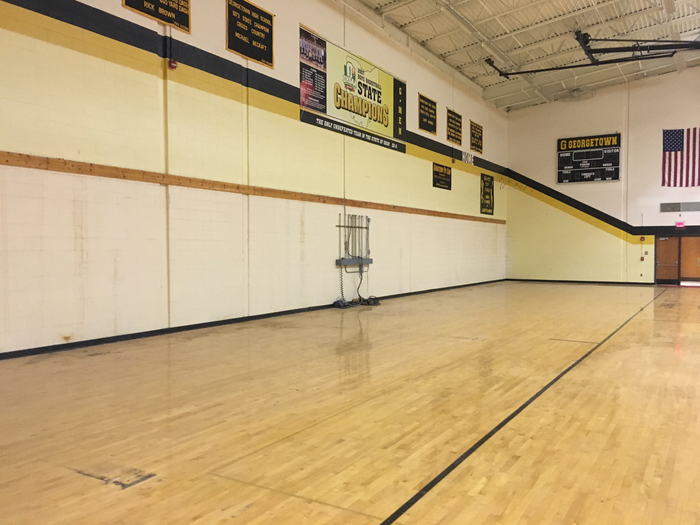 Gym Bleachers Removed