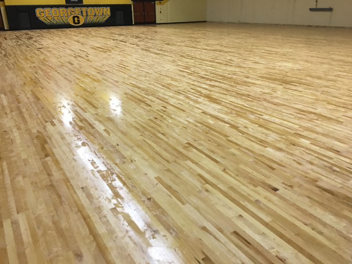 sealed gym floor
