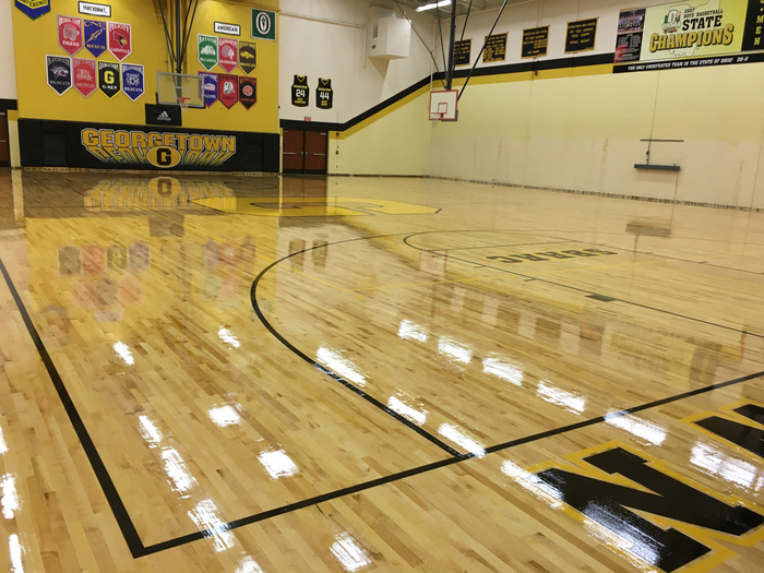 Gym Floor Sealed