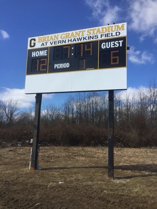 Soccer scoreboard installed!
