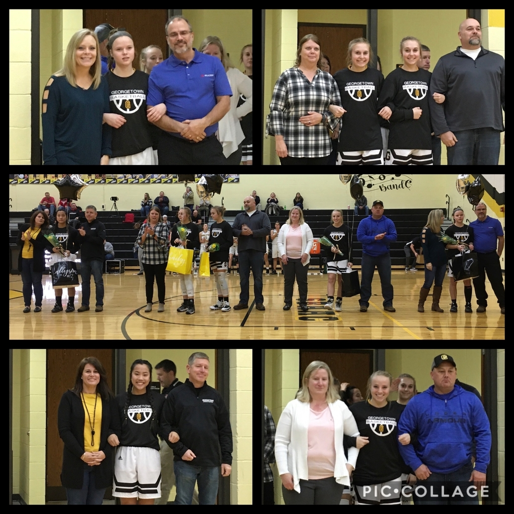 Senior night recognition